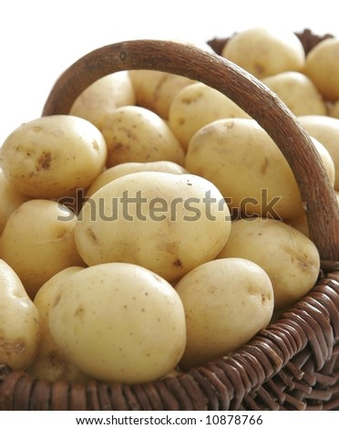 Potatoes in the basket