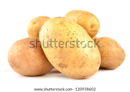Potatoes isolated on white - stock photo