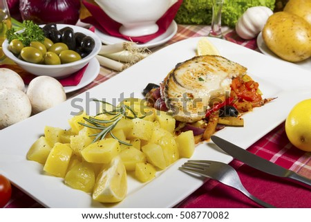 Beside dish stock photos royalty free images vectors for Side dishes for fried fish