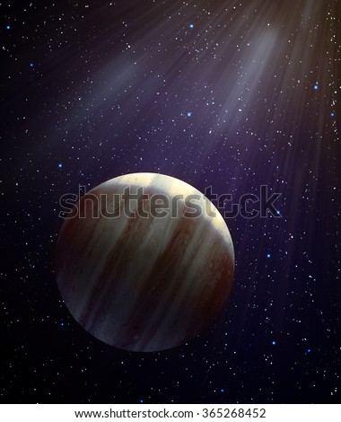 Potential new planet in the solar system - planet X - stock photo