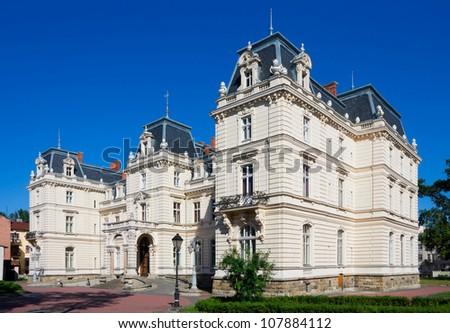 Potocki Palace in Lviv, Ukraine - former.  Lviv Art Gallery - currently. - stock photo