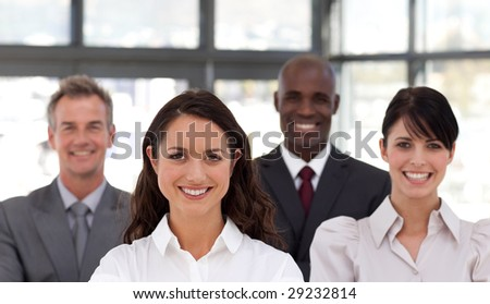 Potrait of an attractive and Confident Young Business woman - stock photo