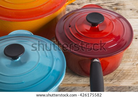 Pots and pans - stock photo