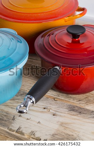 Pots and saucepans - stock photo
