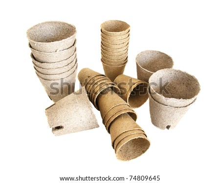 Pots for sprouts cultivation - stock photo