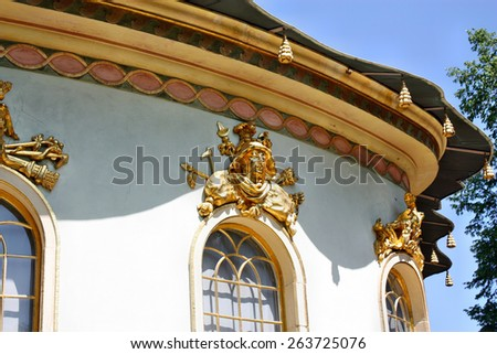 Potsdam, Germany - May 19, 2013: Chinese house in Sanssouci Park