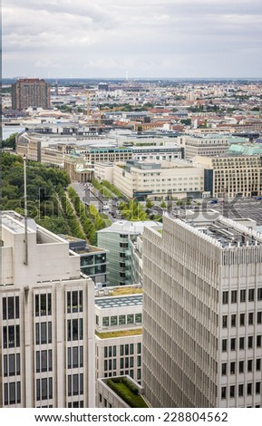 Potsdamer Platz - areal view, Berlin - stock photo