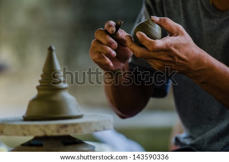 Potter's clay, Craftsman, Sculpture, Handcraft - stock photo
