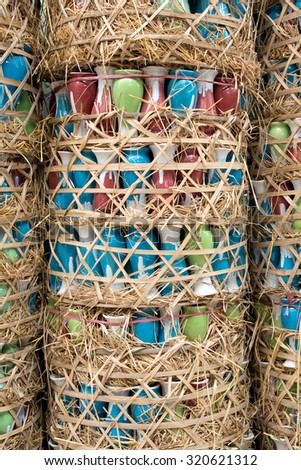 Pottery Baskets in  Bat Trang, Hanoi, Vietnam - stock photo