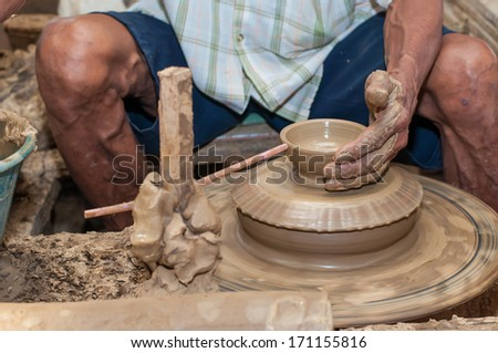 Pottery is a delicate and requires skilled in the art they made