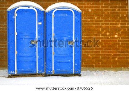 Potties in winter