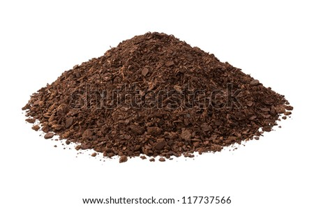 Potting Soil Isolated on a white background