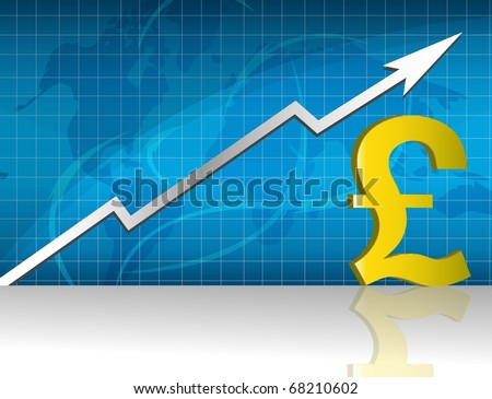 Pound currency trading graph. - stock photo