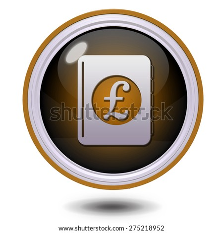 pound money book circular icon on white background