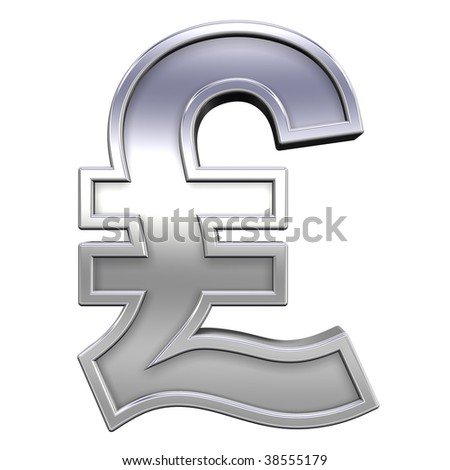 Pound sign from chrome with frame alphabet set, isolated on white. Computer generated 3D photo rendering.