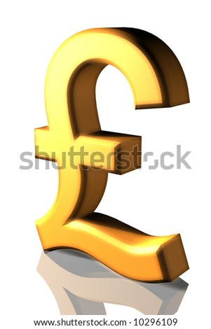 Pound Symbol - stock photo