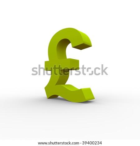 Pound symbol - stock photo