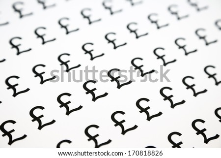 pound symbol pattern, black and white background - stock photo