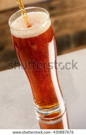 Pouring Beer on Bar