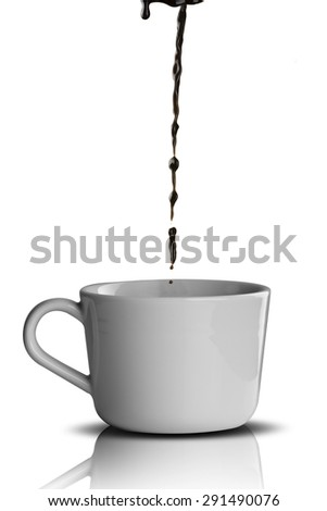 Pouring Coffee To Cup - stock photo