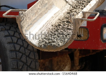 Pouring Concrete - stock photo