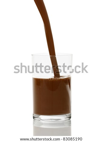 Pouring Hot Chocolate - stock photo