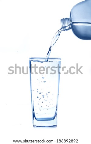 Pouring water to Glass