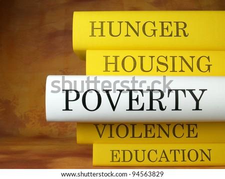 Poverty (book titles) - stock photo