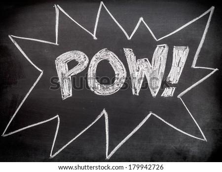 Pow comic action - stock photo