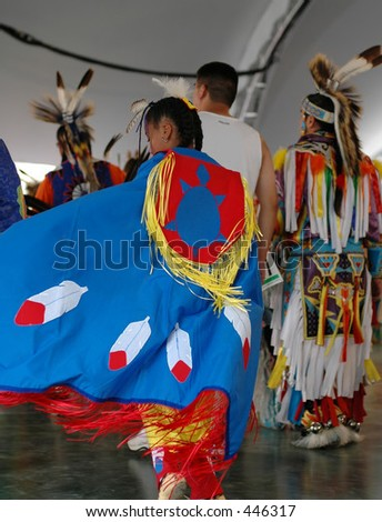 pow-wow-dancers,Niagara Falls,New York - stock photo