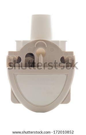 Powder asthma inhaler - stock photo