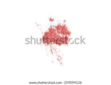 Powder loose isolated on white - stock photo