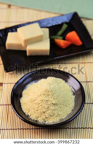 Powder tofu - stock photo