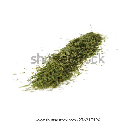 Powdered Green Grass. Isolated on White Background. - stock photo