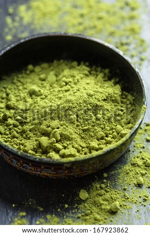Powdered Green Tea, Matcha Tea - stock photo