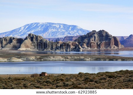 Powell lake - stock photo