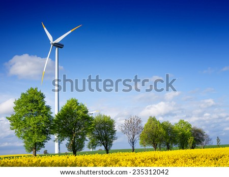 Power and environment - stock photo