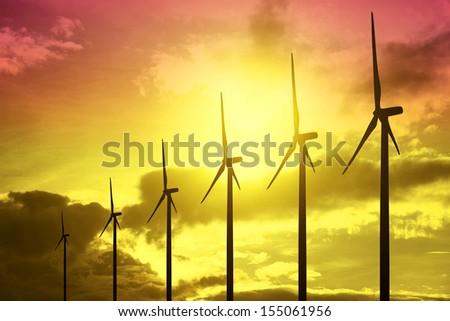 Power at Sunset - stock photo