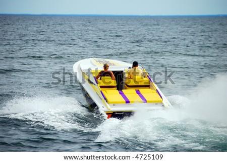 Power Boating - stock photo