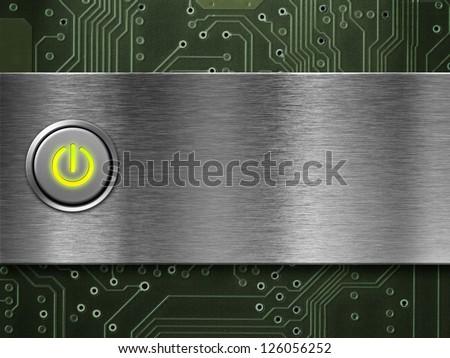 power button on - stock photo