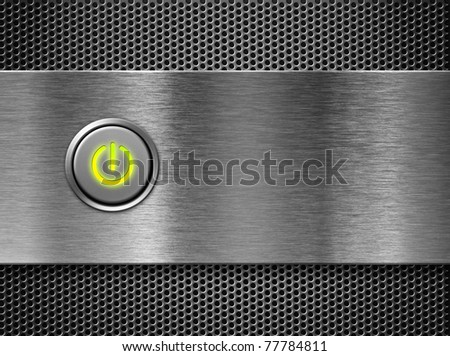 power button on - stock photo