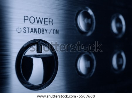 Power button on control panel