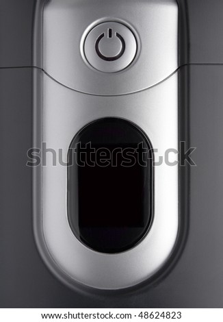 Power button on the front PC board - stock photo