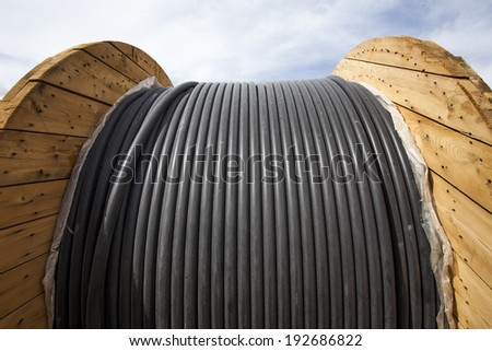 power cable background - stock photo
