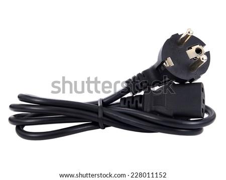 Power cord - stock photo