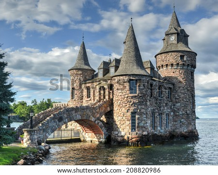 Power House of Boldt Castle in Thousand Islands, New York, USA. - stock photo
