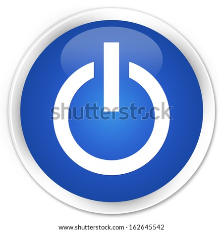 Power icon blue button