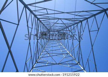 Power Line against sky background.