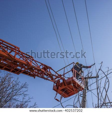 Power lines - stock photo
