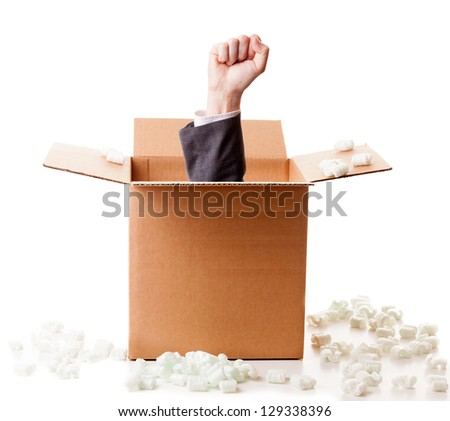 Power out of the box - stock photo